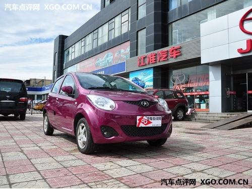 江淮汽车悦悦细节   悦悦是江淮唯一一款微型车,外形动感时高清图片