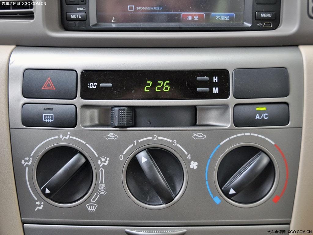 【超大图】一汽丰田2011款 花冠 1.6at 豪华版中控盘